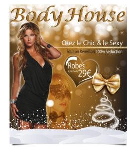 Flyer de noël pour boutique Body house
