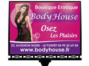Panneau de pub Body house