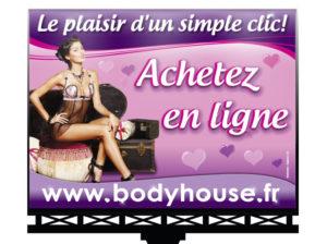 Panneau publicité Body house