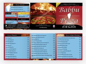Flyer 3 volets Babbu Pizza