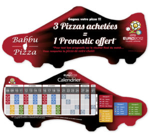 Flyer découpe Euro foot Babbu Pizza