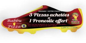 Flyer découpe originale Babbu Pizza