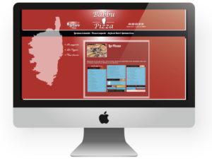 Site internet Babbu Pizza