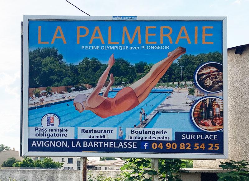 4x3 La Palmeraie panneau Avignon