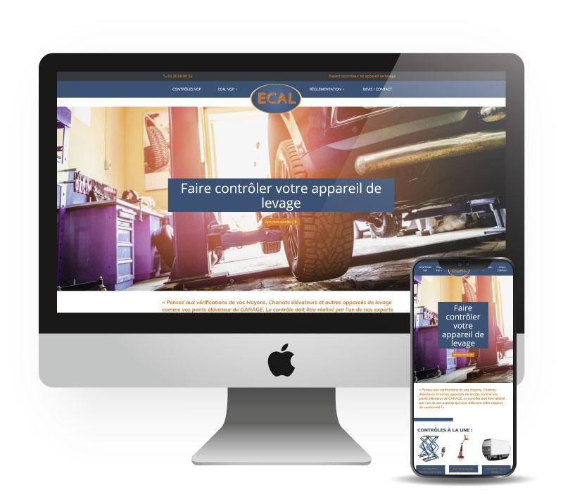 Site responsive vitrine - Ecal