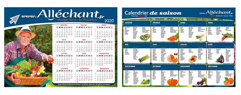 Calendrier de saison Alléchant fruit et légume