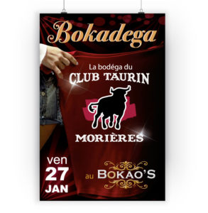 Flyer affiche club taurin