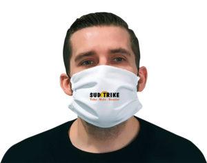 Masque de protection personnalisés logo