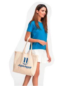 Sac tote bag pour courses personnalisé