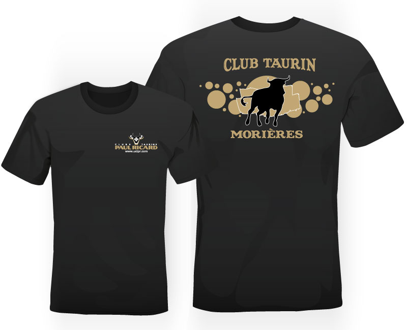 Tshirt noir et or club taurin