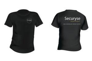 Tshirt Pro personnalisé Securyse noir