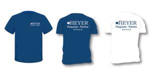 Tshirt Tp et chantier personnalisés Heyer de couleur