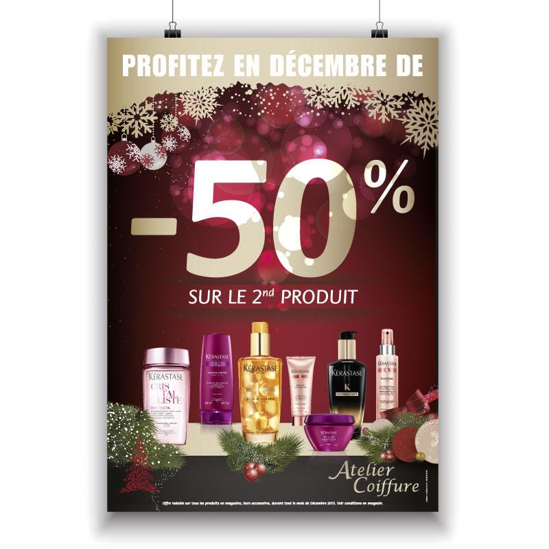 Affiche Noël Atelier Coiffure