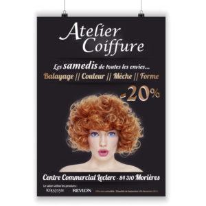 Affiche promo Atelier Coiffure
