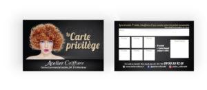 Carte adhérent femme Atelier Coiffure