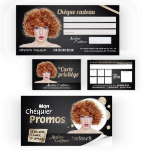 Carte chèque promo Atelier Coiffure