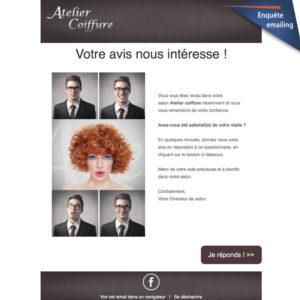 Emailing satisfaction Atelier Coiffure