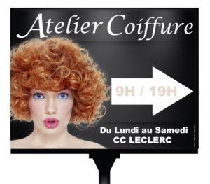 Panneau directionnel salon Atelier Coiffure