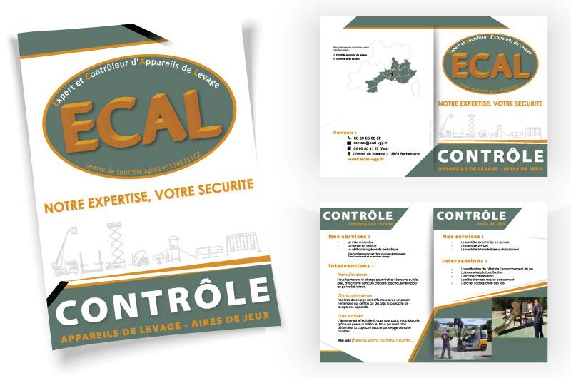 Dépliant entreprise Ecal VGP