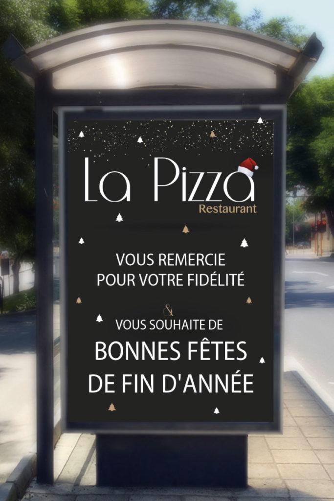 Abribus noël La Pizza