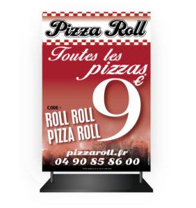 Abribus publicitaire Pizza Roll