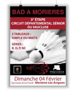 Affiche Badminton Morières
