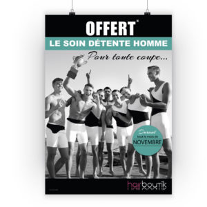 Affiche homme coiffure Hairboutik