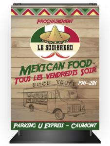 Affiche Le Sombrero foodtruck