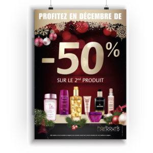 Affiche Noël Hairboutik