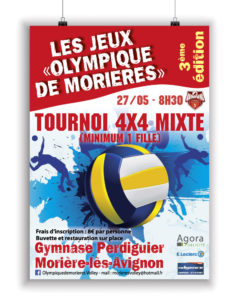 Affiche Volley Ball Morières