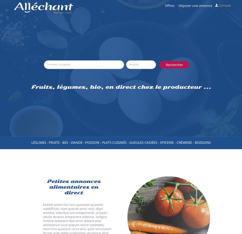 Site maquette web Alléchant