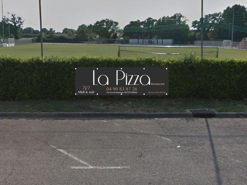 Bâche sportive La Pizza