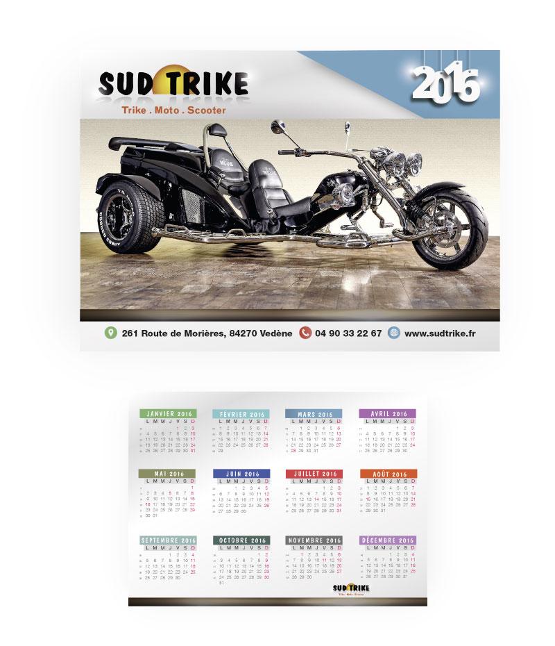 Calendrier 2016 Sud Trike