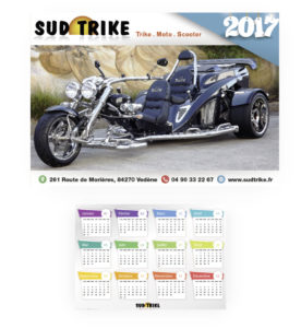 Calendrier 2017 Sud Trike