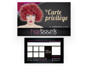 Carte coiffure Hairboutik