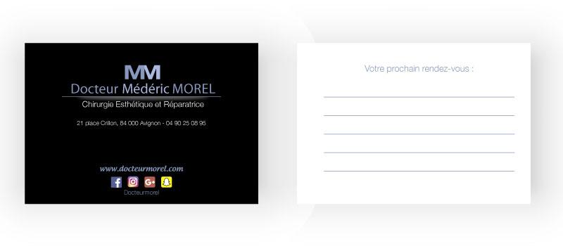 Carte de rendez-vous Dr Morel
