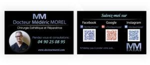 Carte réseaux chirurgien esthétique Dr Morel