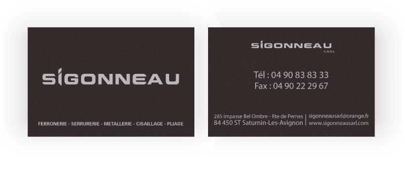 Carte visite luxe Sigonneau