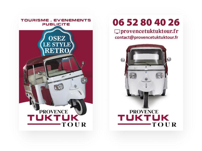 Carte de visite Provence TukTuk Tour