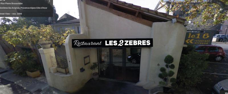 Enseigne restaurant Les 2 Zèbres