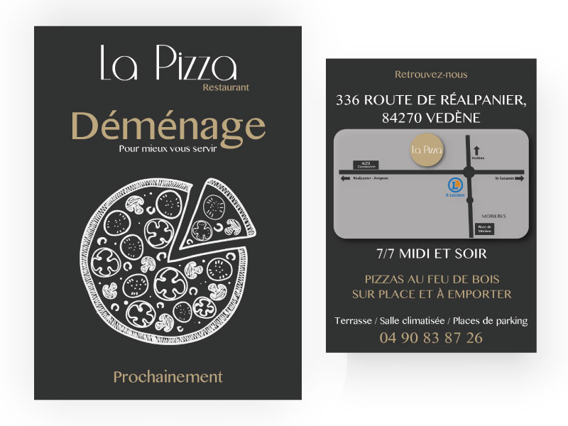 Flyer déménagement La Pizza