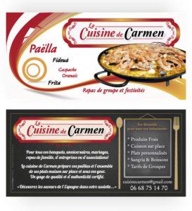 Flyer paëlla La cuisine de Carmen