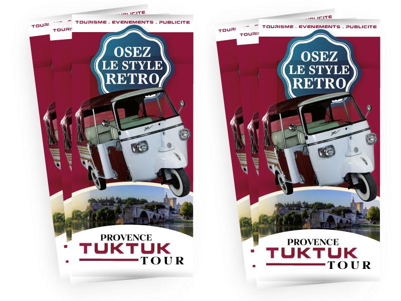 Flyer promotionnel Provence TukTuk Tour