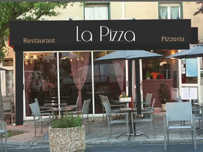 Habillage enseigne restaurant La Pizza