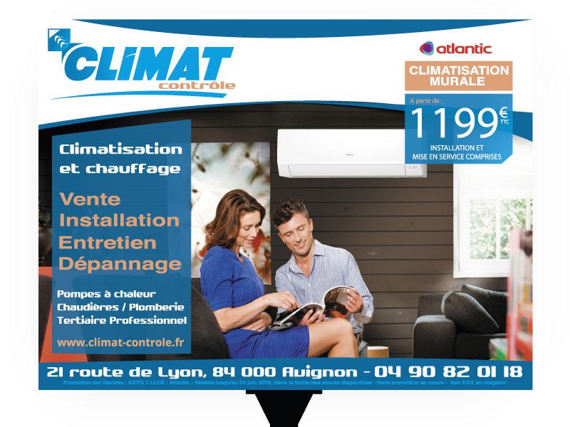 Panneau 4x3 Climat Contrôle