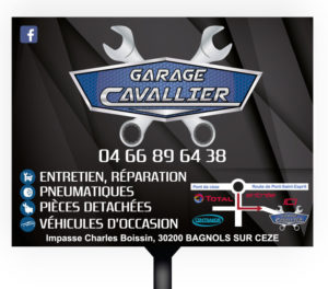 Panneau publicitaire Garage Cavalier
