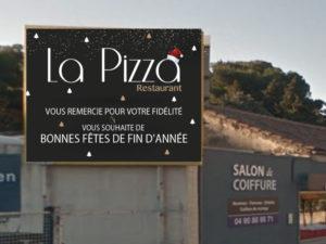 Panneau 4x3 Noël La Pizza