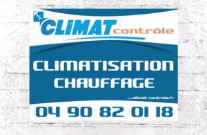 Panneau directionnel Climat Contrôle