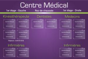 Plaques de cabinet médical et médecins