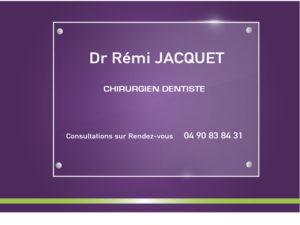 Plaque dentiste Jacquet